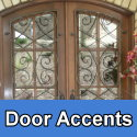Metal or iron door Accents